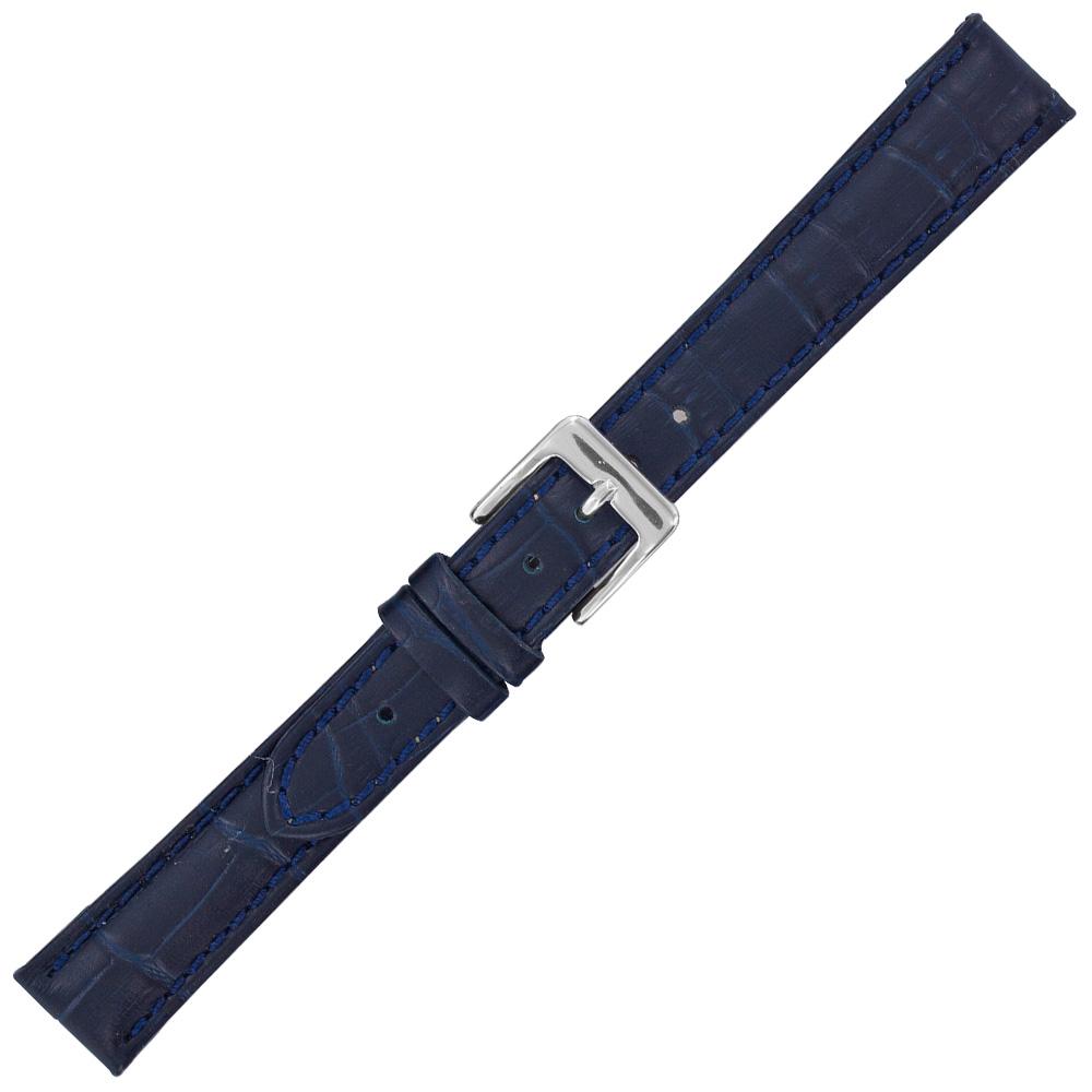 montre bracelet cuir bleu marine