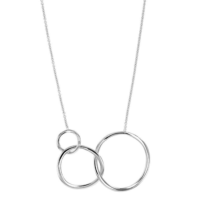 Vinani Design Pendentif Cercle ronde /él/égant bross/é Argent Sterling 925 2ARG-EZ