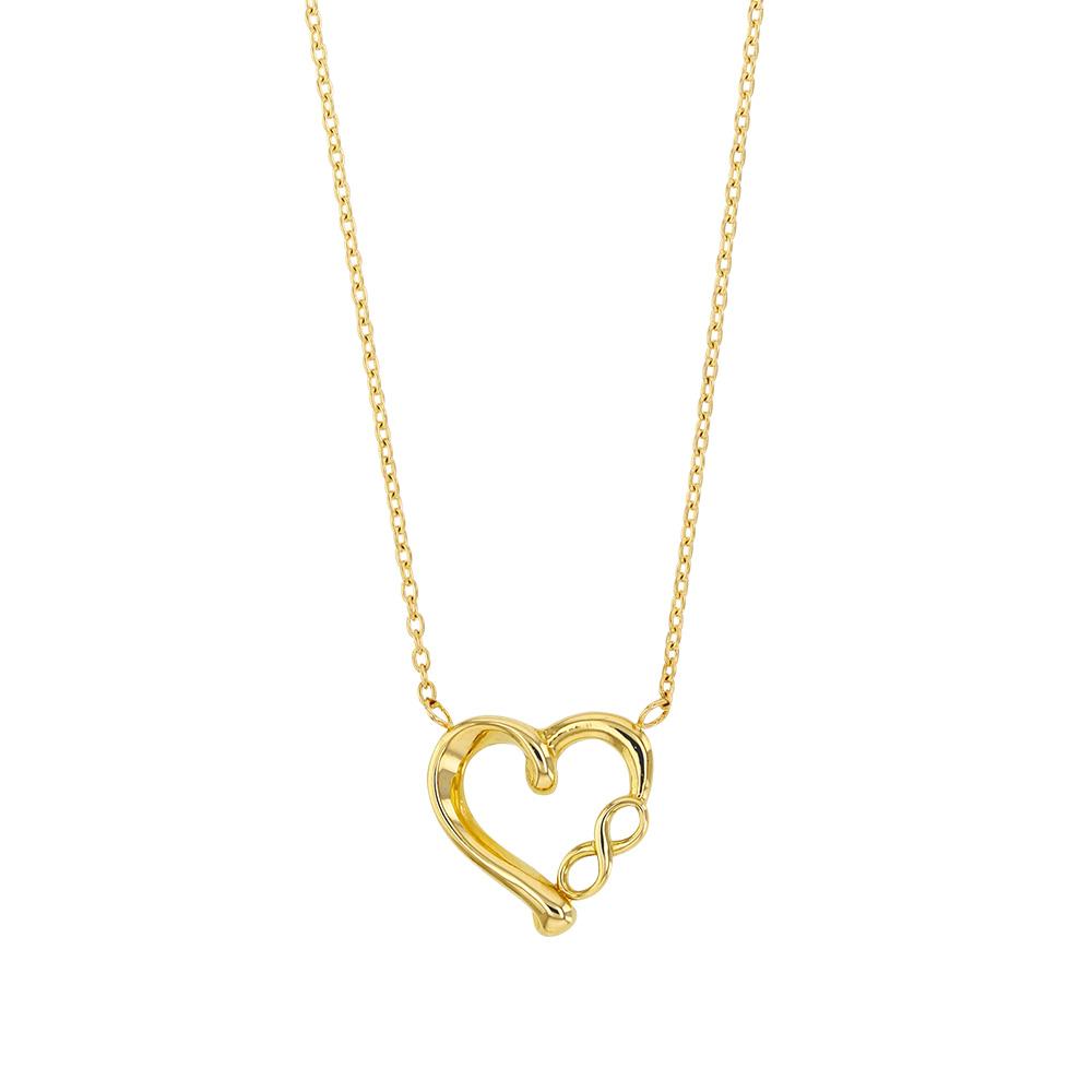 collier coeur en or 375 1000 avec symbole de l 39 infini. Black Bedroom Furniture Sets. Home Design Ideas