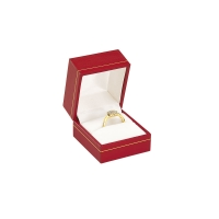 Red ring box with gold border detail
