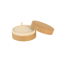 Round card jewellery presentation boxes - matt natural kraft finish