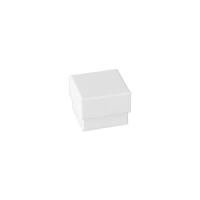 Waffle finish matt white card jewellery presentation box