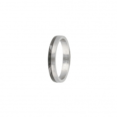 Black and steel plain ring