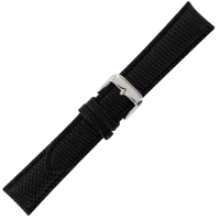 Genuine leather watch strap with steel buckle - stamped with lizard print