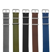 Pack of 5 plain NATO style watch straps