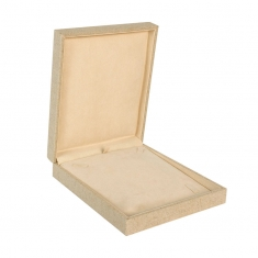 Linen and cotton mix jewellery presentation boxes