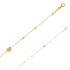 9 ct gold bracelet featuring a heat motif and cubic zirconia