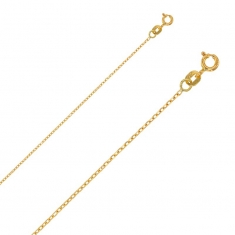 Filed belcher chain 18ct gold necklace