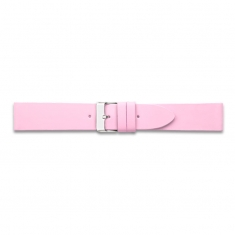 Pink seamless cut, flat corrected grain pigmented cowhide leather watch strap