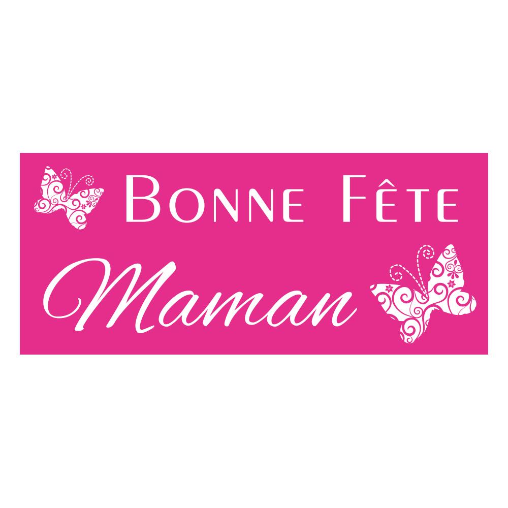 Extrêmement Etiquettes adhésives rectangle Bonne fête Maman | Laval Europe EO19