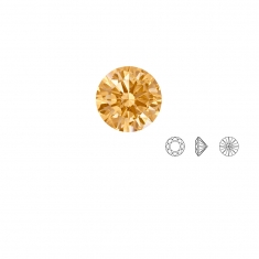 Pierres Oxyde de zirconium Swarovski - rond, couleur Fancy Yellow