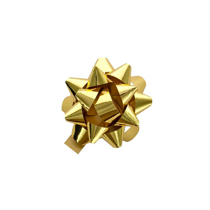 gold coloured confetti gift bow laval europe