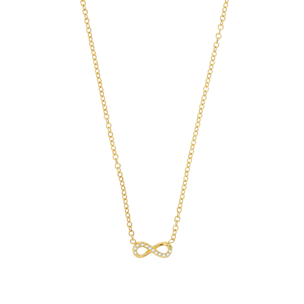 Infinite gold-plated necklace