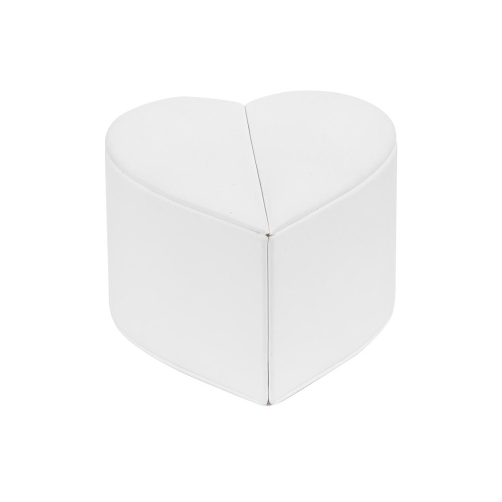 Hartvormig ringendoosje bekleed met witte kunststof for Witte kunstof eetkamerstoelen