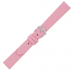 Bracelet montre cuir rose, finition grainée