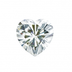 Heart cut \\\'Forever Brilliant\\\' Moissanite - 56 facets