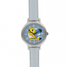 Looney Tunes watch, genuine calf leather bracelet, Miyota movement and steel case