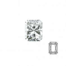 Octogan cut \\\'Forever Brilliant\\\' Moissanite - 53 facets