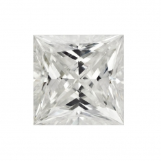 Sqaure Princess cut \\\'Forever Brilliant\\\' Moissanite - 57 facets