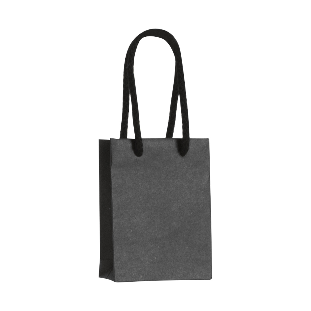 Luxury Black Kraft Paper Boutique Bag With Matching Cotton Cord
