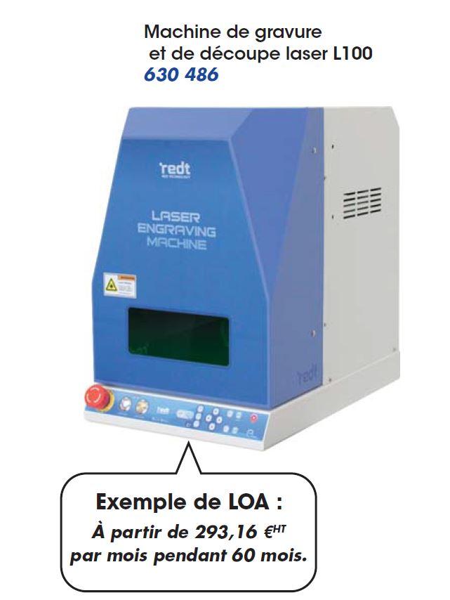 Machine de gravure et découpe laser L100