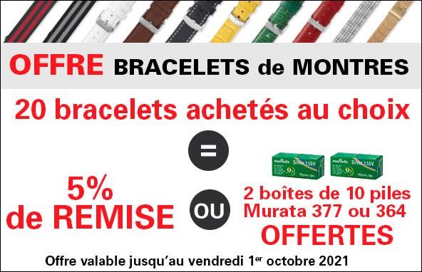 Offre bracelets de montres