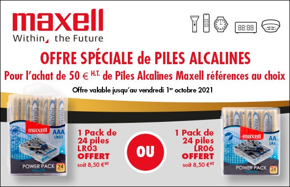 Offre piles Maxell