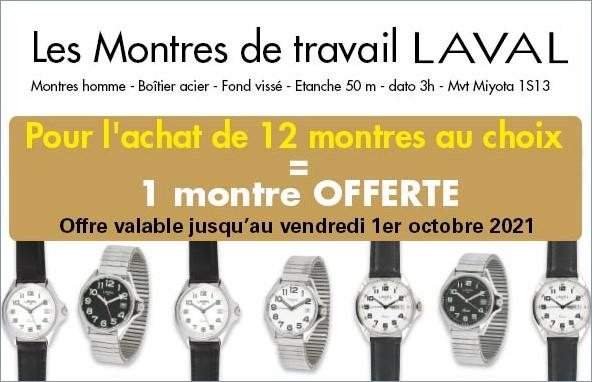 Offres montres de travail Laval