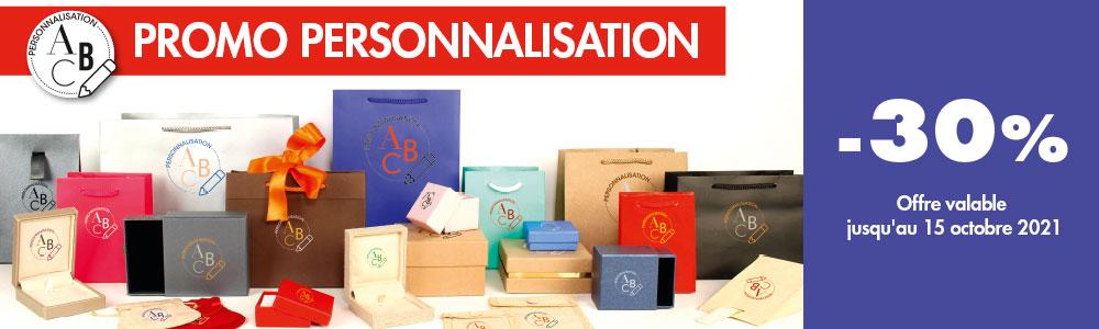 Promotion sur la personnalisation