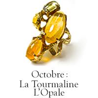 Pierre d'octobre : la Tourmaline et l'Opale