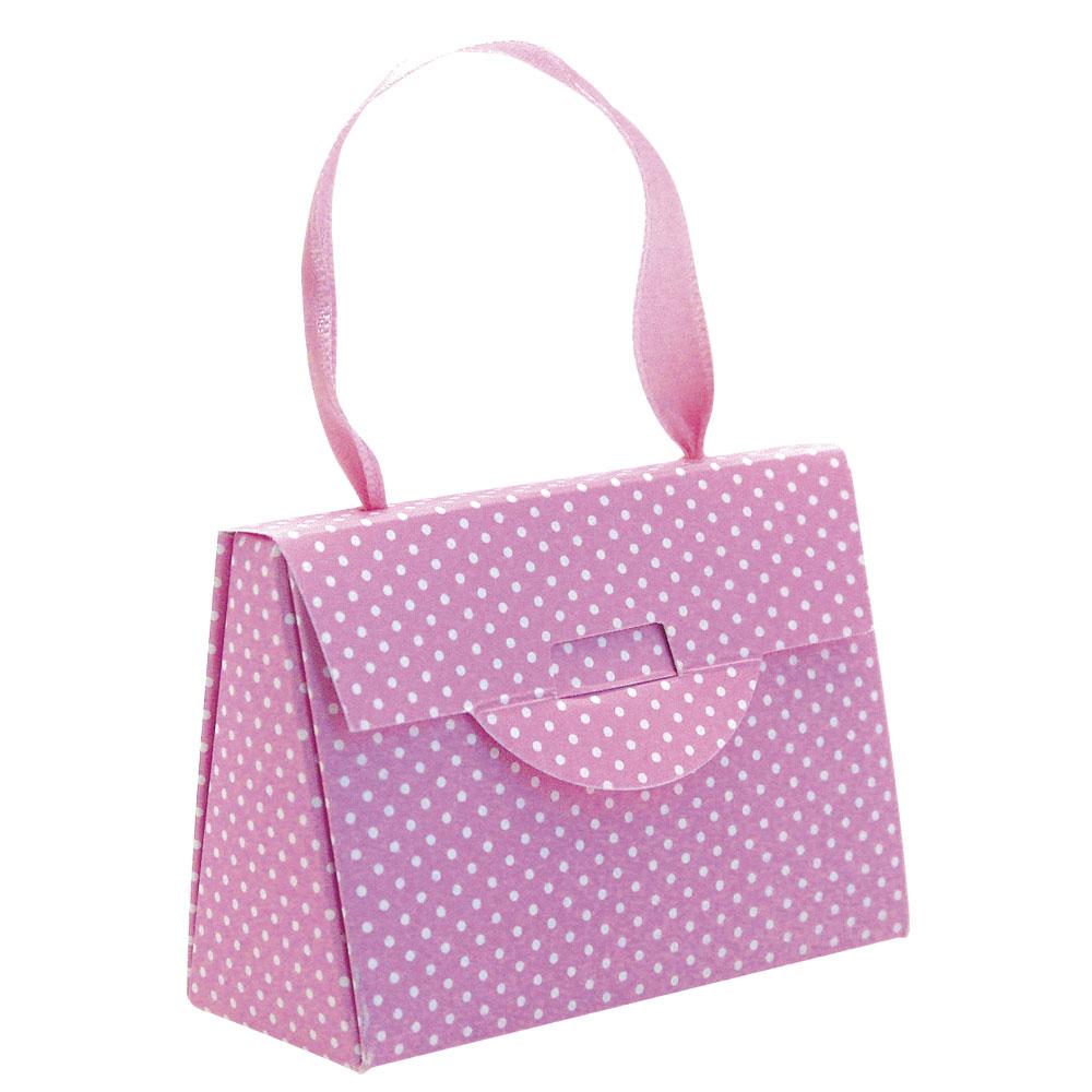 mini sac anses en carton rose petit pois blancs pour bijou enfant paquet de 30 laval europe. Black Bedroom Furniture Sets. Home Design Ideas