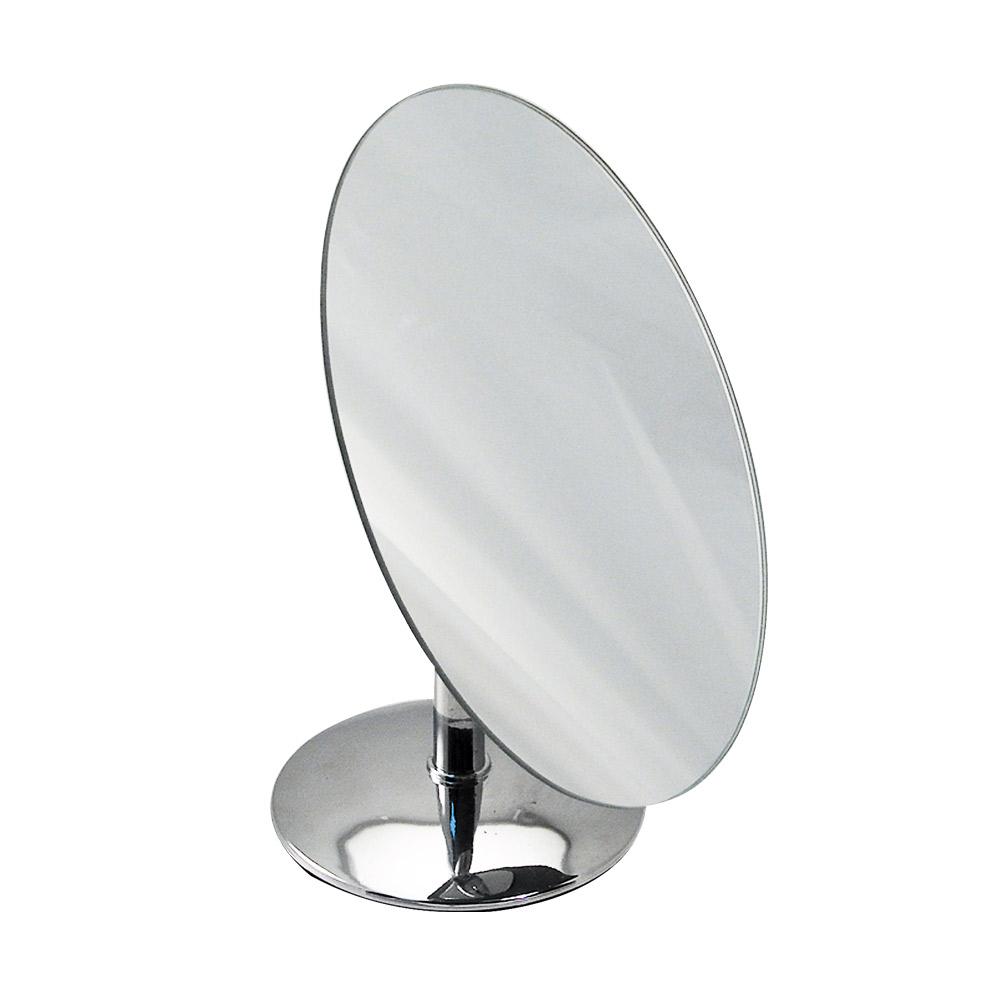 Miroir pivotant ovale chrom avec socle laval europe for Miroir pivotant