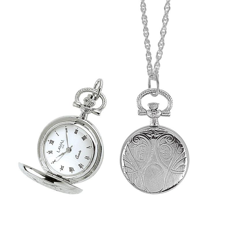 17fee289056 Montre pendentif motif médaillon pour femme avec couvercle et chiffres  romain