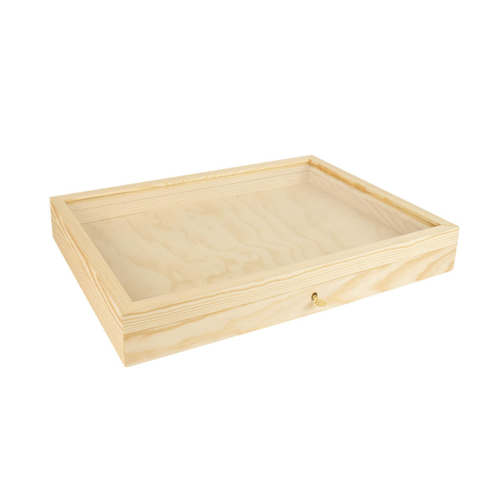 Vitrine en bois verni mat avec fen tre en verre laval europe for Vitrine en verre et bois