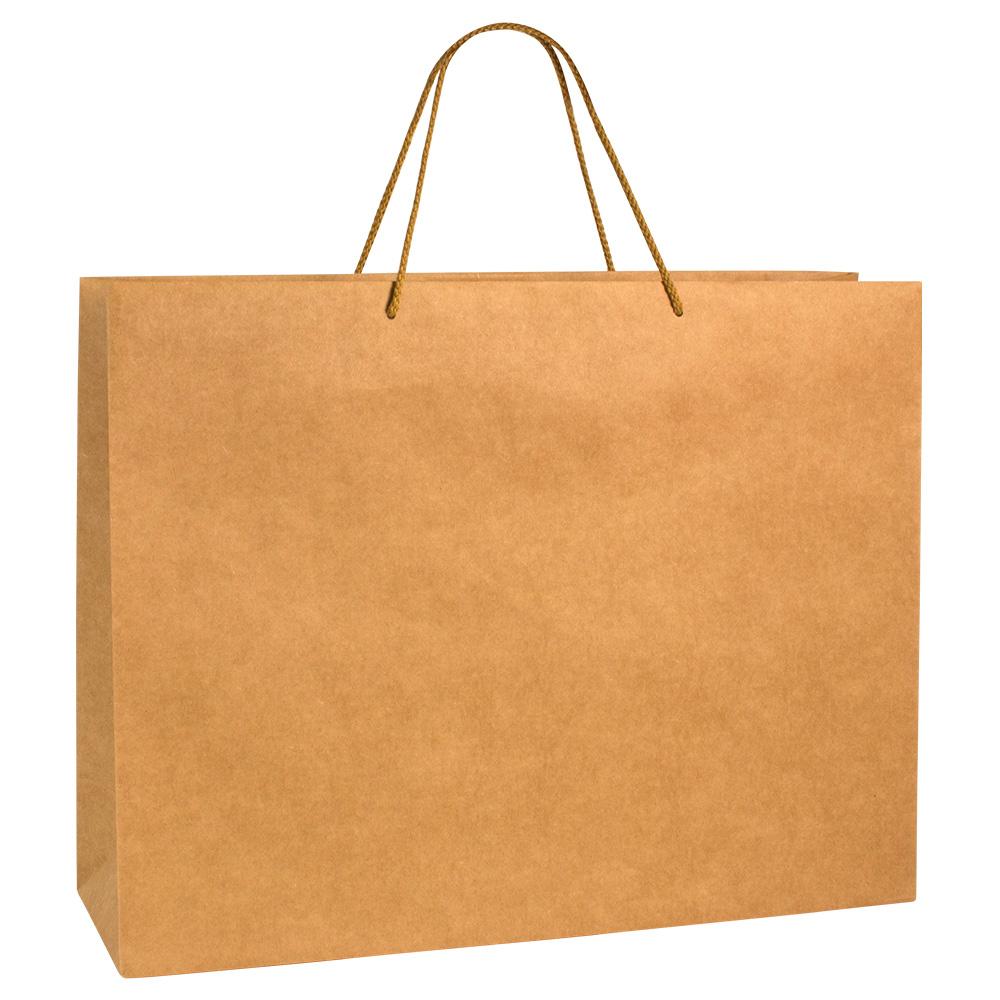 sac papier kraft luxe naturel 52 16x40cm poign es cordon coton 200g laval europe. Black Bedroom Furniture Sets. Home Design Ideas