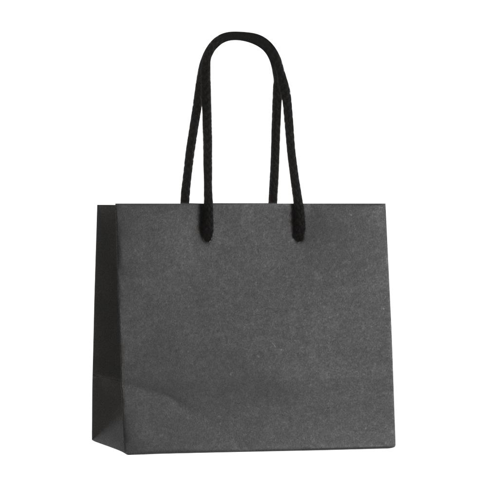 sac papier kraft luxe noir 16 8x14 cm poign es cordon coton 200g laval europe. Black Bedroom Furniture Sets. Home Design Ideas