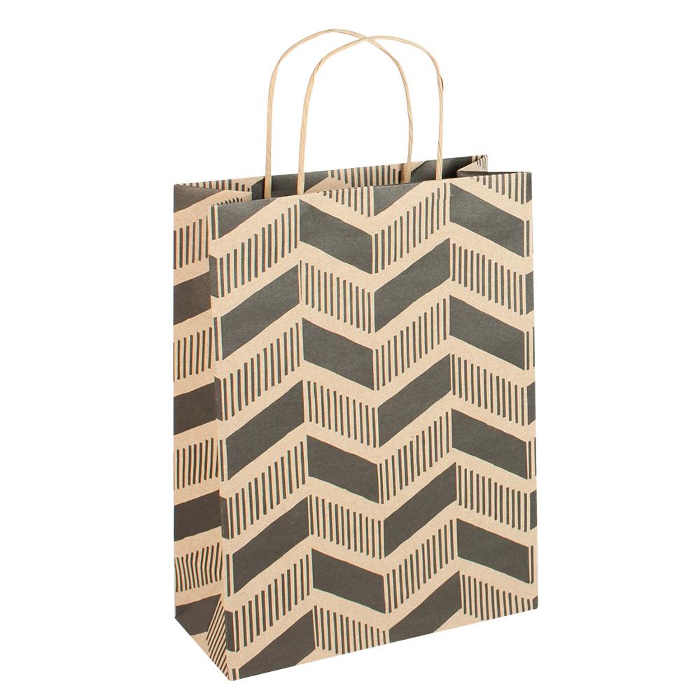 sacs papier kraft collection chevron poign es kraft torsad es 200 g laval europe. Black Bedroom Furniture Sets. Home Design Ideas