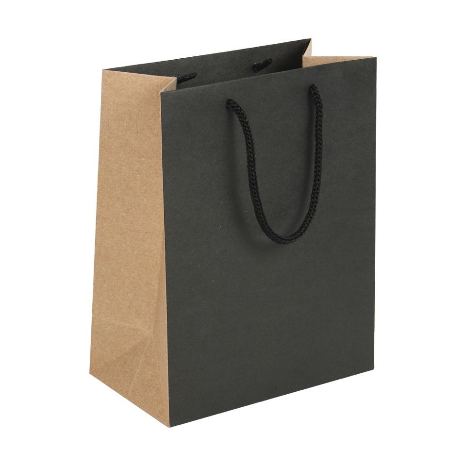sacs papier kraft noir et naturel laval europe. Black Bedroom Furniture Sets. Home Design Ideas