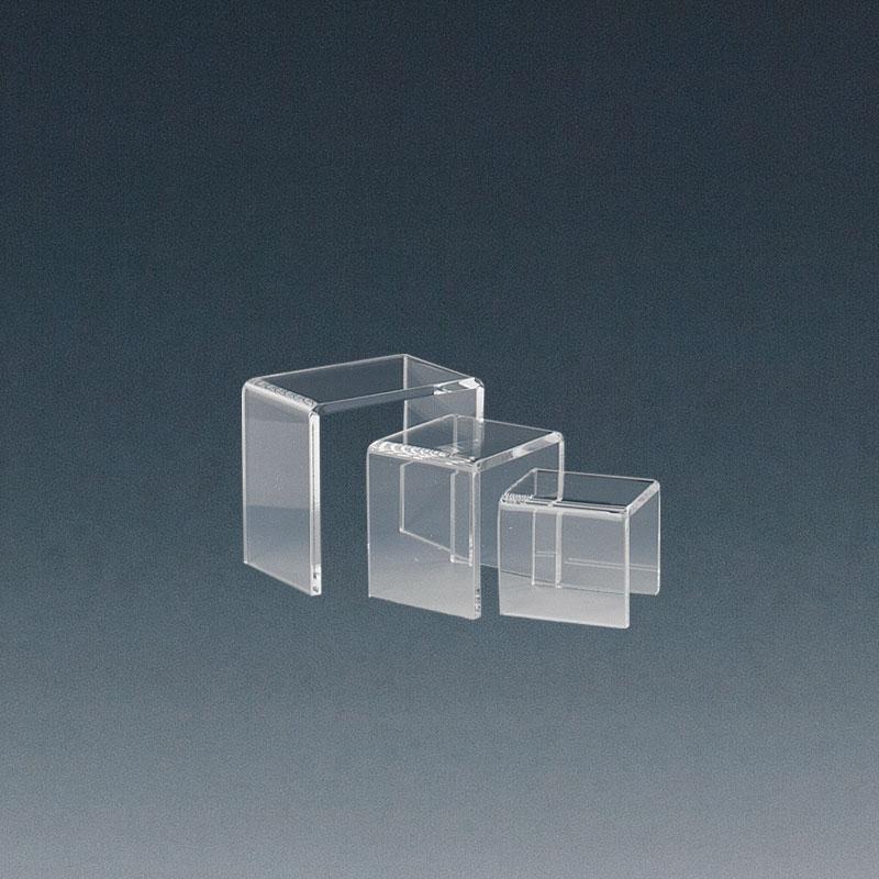 set 3 tables gigognes en plexi laval europe. Black Bedroom Furniture Sets. Home Design Ideas
