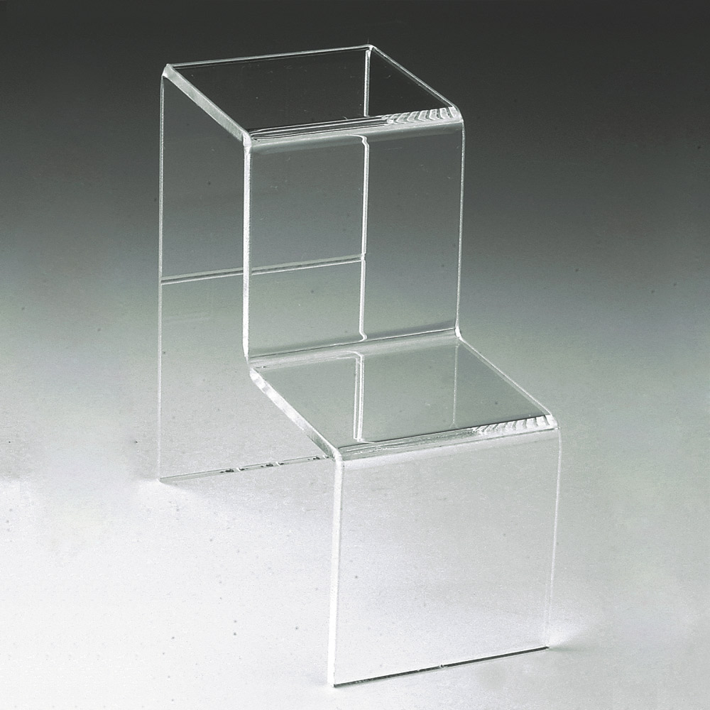 Support de pr sentation plexi en escalier laval europe for Vitrine plastique transparent