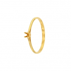 18ct gold ring mount with 4 claw centre setting 2.4 to 2.7mm