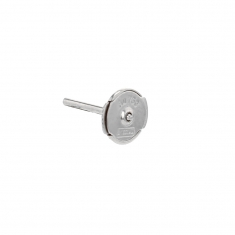 Pair of small 18ct white gold S\\\'TOP earring fittings - 6mm