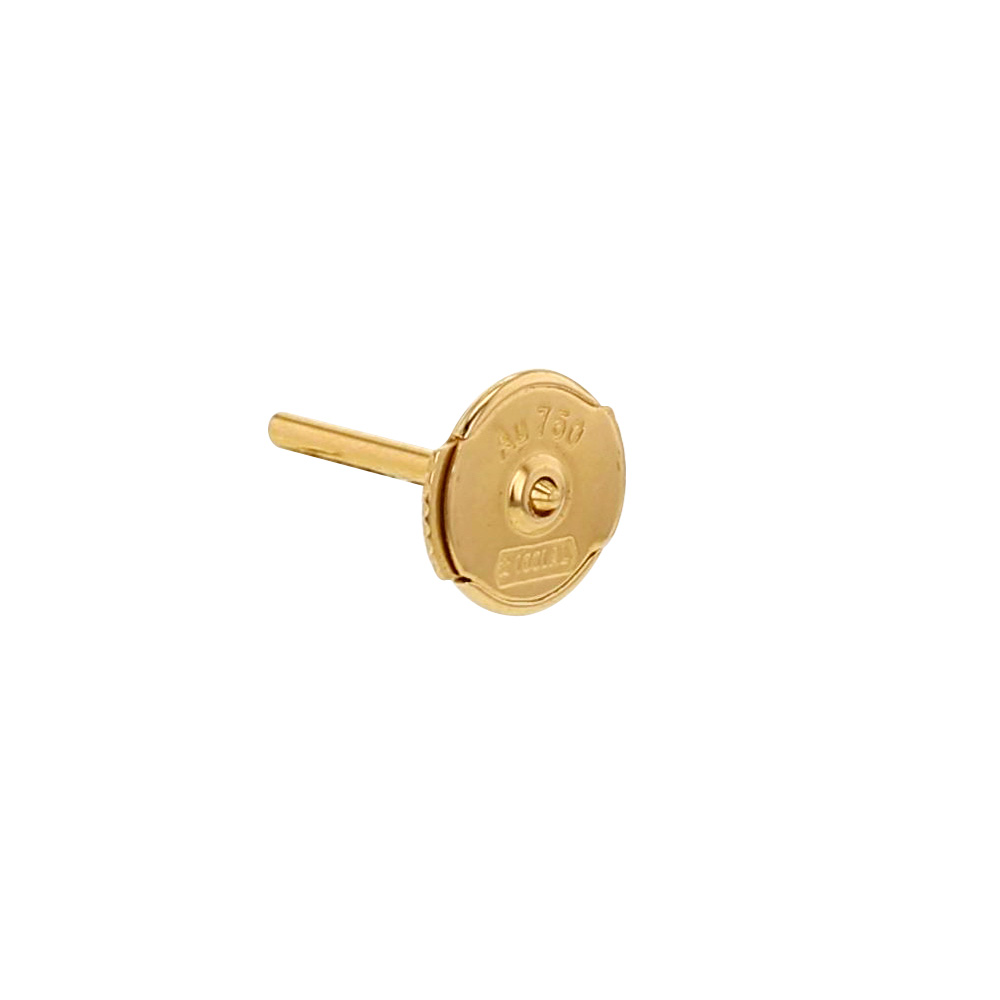 Pair of small 18ct gold S'TOP earring fittings - 6mm