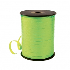 Lime green curling gift ribbon