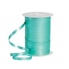 Powder finish turquoise gift curling ribbon