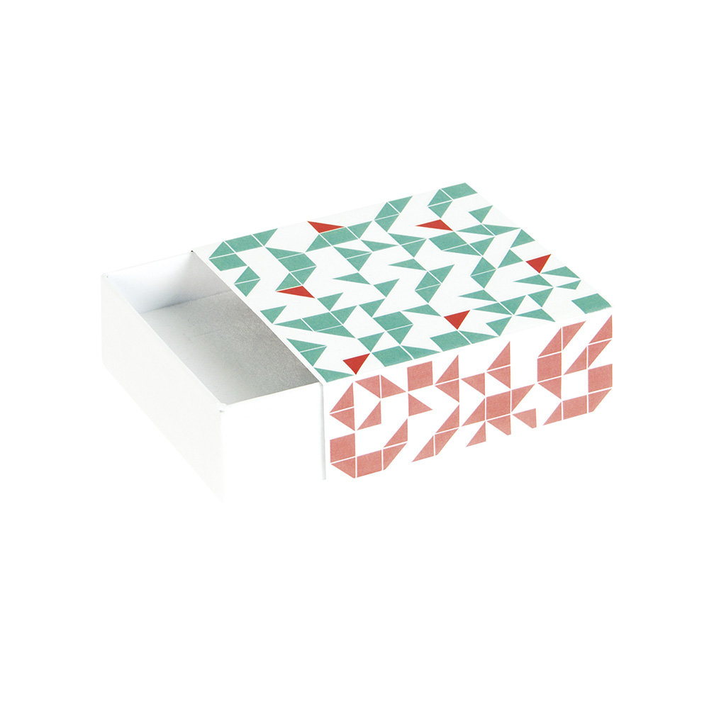 \\\'Geometric\\\' pattern card matchbox style trinket box