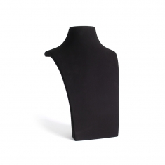 Black soft-touch finish leatherette display bust 35cm tall