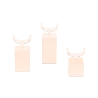 Set of 3 pearlescent finish PMMA ring holders with clips