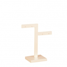 Two branch earring display stand in pearlescent finish PMMA, 8cm