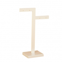 Two branch pearlescent finish PMMA earring display stand 11cm